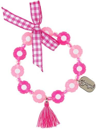 Souza Armband Flo roze - fuchsia bloemen (1 stuk)