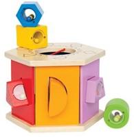 Hape houten leerspel Sorteer kist-3