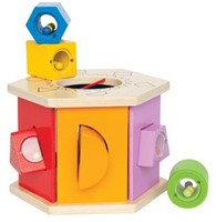 Hape houten leerspel Sorteer kist