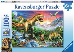 Ravensburger puzzel Bij de dinosaurussen - Legpuzzel - 100 stukjes
