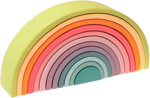 Grimm's 12 delige pastel  houten regenboog