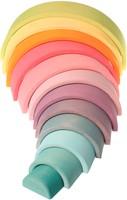 Grimm's 12 delige pastel  houten regenboog -2