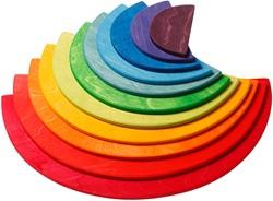 Grimm's 11-delige gekleurde houten Grote Regenboog Halve Cirkels 10675