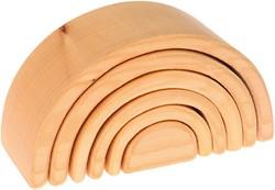 Grimm's 6-delige blank houten Regenboog 10680