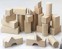 Haba  houten bouwblokken Basispakket (26 blokken)-2