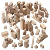 Haba  houten bouwblokken Extra groot basispakket 1077-1