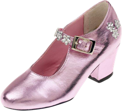 Souza Schoentjes hoge hak Madeleine, roze metallic, mt 32 (1 paar)