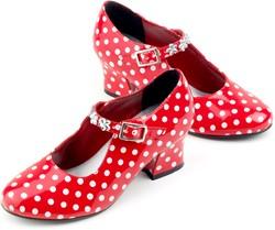 Souza Schoentjes hoge hak Isabella, rood/wit stippen, mt 28 (1 paar)