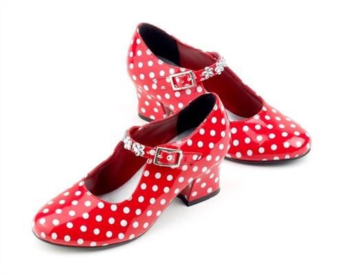 Souza Schoentjes hoge hak Isabella, rood/wit stippen, mt. 29 (1 paar)