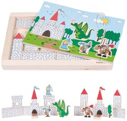 Beleduc  houten lagenpuzzel Rollenspel Kasteel