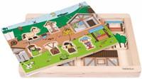 Beleduc  houten lagenpuzzel Rollenspel Markt-1