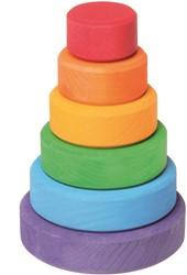 Grimm's 6-delige gekleurde houten Stapeltoren
