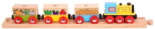 BigJigs Fruit and Veg Train-1