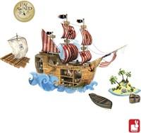Janod  decoratie Muursticker piraten magnetisch-3
