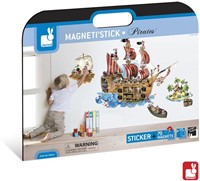 Janod  decoratie Muursticker piraten magnetisch-1