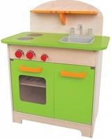 Hape houten keukentje Gourmet groen-1