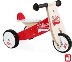 Janod Bikloon loopfiets - driewieler rood en wit