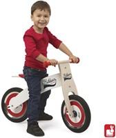 Janod  houten loopfiets Bikloon rood/wit-3