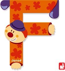 Janod Clown Letter - letter F