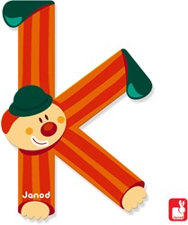 Janod Clown Letter - letter K