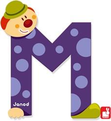 Janod Clown Letter - letter M