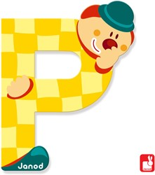 Janod Clown Letter - letter P
