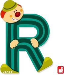Janod Clown Letter - letter R
