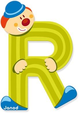 Janod Clown Letter -  R