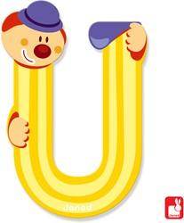 Janod Clown Letter - letter U