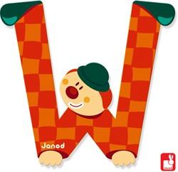 Janod Clown Letter - letter W