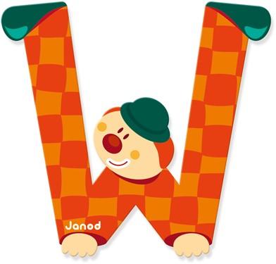Janod Clown Letter -  W
