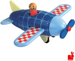 Janod  houten leerspel Magneetset vliegtuig