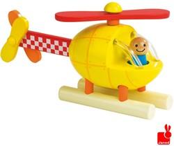 Janod  houten leerspel Magneetset helikopter
