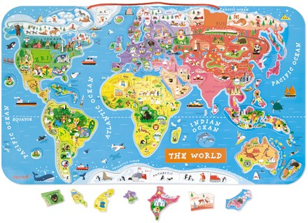 Janod Magneetbord - De wereld (ENG)
