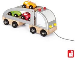 Janod Vrachtwagen - vrachtwagen met 3 auto's