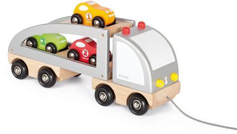 Vrachtwagen Met Meerdere Raceauto'S