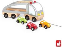 Janod Vrachtwagen met 3 auto's-2