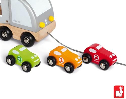 Janod Vrachtwagen met 3 auto's-3