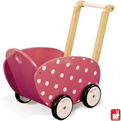 Janod  houten poppen meubel Poppenwagen Framboisine
