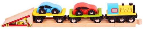 BigJigs houten trein accessoires Car Loader