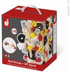 Janod Bricolo houten constructie speelgoed Redmaster doos 50