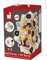 Janod Bricolo houten constructie speelgoed Redmaster doos 100