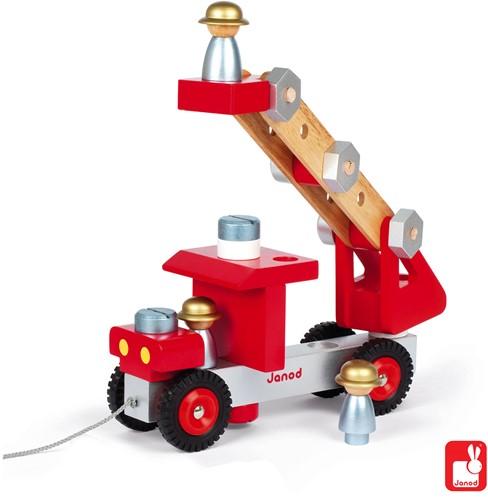 Janod Vrachtwagen - Brandweerauto-2