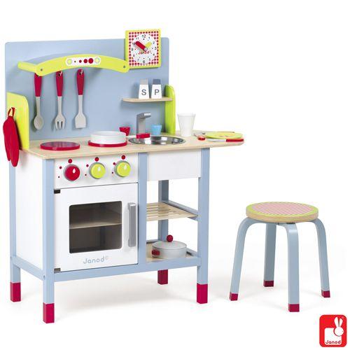 Janod houten keukentje Picnik met 16 accessoires