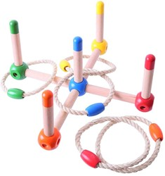 BigJigs Natural Wooden Quoits