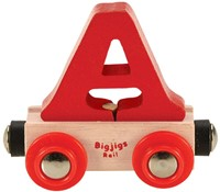 BigJigs Rail Name Letter A , BIGJIGS, LETTERTREIN A