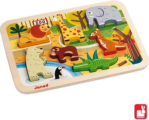 Janod Chunky puzzel - Dierentuindieren-2