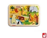 Janod Chunky puzzel - dierentuindieren