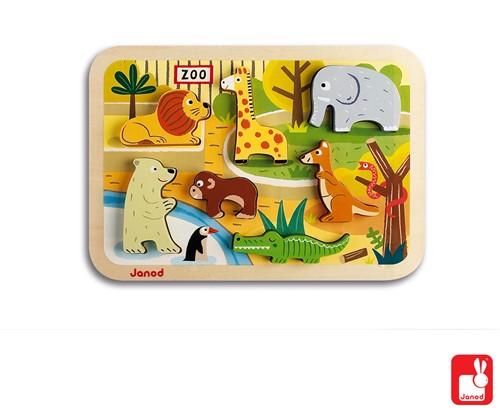 Janod Chunky puzzel - Dierentuindieren-3