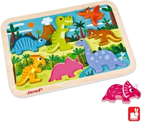Janod Chunky puzzel - Dinosaurus